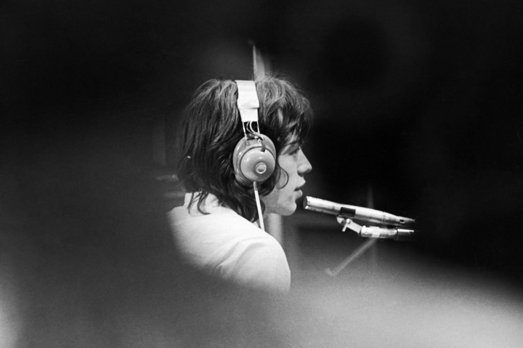 Mick Jagger in a London recording studio during the filming of Jean-Luc Godard's 'Sympathy For the Devil.' Keystone Features/Hulton Archive/Getty Images