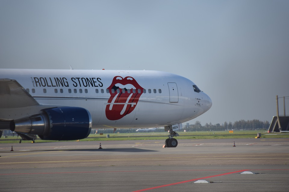 Rolling Stones Airplane, Pixabay